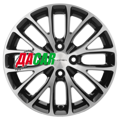 Khomen Wheels KHW1506 (Rio II) 6x15/4x100 ET46 D54,1 Black-FP