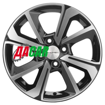 Khomen Wheels KHW1501 (Vesta/Almera) 6x15/4x100 ET50 D60,1 Black-FP