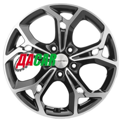 Khomen Wheels KHW1702 (Sportage) 7x17/5x114,3 ET48,5 D67,1 Black-FP