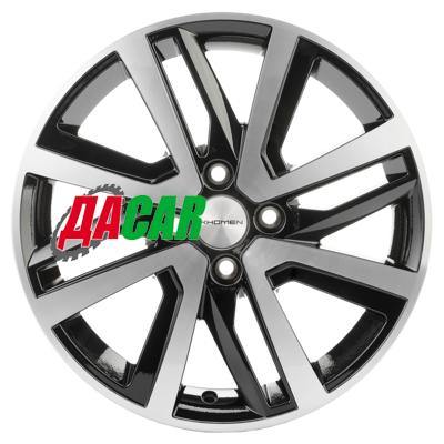 Khomen Wheels KHW1609 (Xray) 6x16/4x100 ET41 D60,1 Black-FP