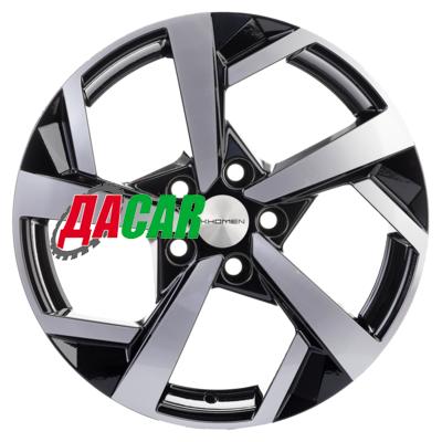 Khomen Wheels KHW1712 (Jetta) 7x17/5x112 ET54 D57,1 Black-FP