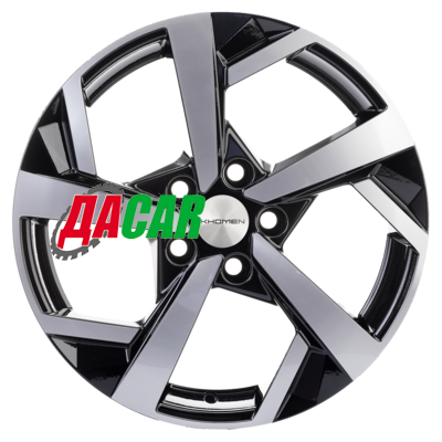 Khomen Wheels KHW1712 (Tiguan) 7x17/5x112 ET43 D57,1 Black-FP