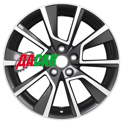 Khomen Wheels KHW1802 (Kaleos) 7x18/5x114,3 ET35 D66,1 Black-FP