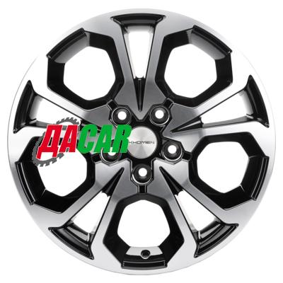 Khomen Wheels KHW1711 (Arkana/Kaptur) 6,5x17/5x114,3 ET50 D66,1 Black-FP