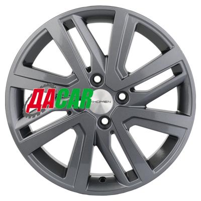Khomen Wheels KHW1609 (Rio II/Solaris II) 6x16/4x100 ET46 D54,1 Gray