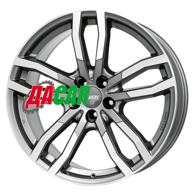 Alutec DriveX 9,5x21/5x112 ET35 D66,5 Metal Grey Front Polished